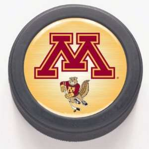 MINNESOTA GOLDEN GOPHERS OFFICIAL LOGO HOCKEY PUCK: Sports