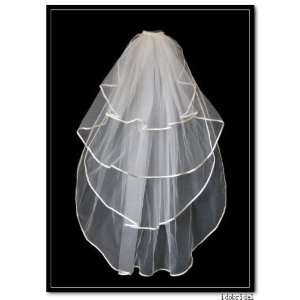 4t Ivory Beautiful Bridal Wedding Veils Fingertip with
