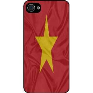 KnightTM Vietnam Flag Rubber Black iphone Case (with bumper) Cover