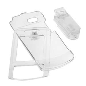 Cell Phone Accessory Bundle   Transparent Clear Crystal Snap on Cover