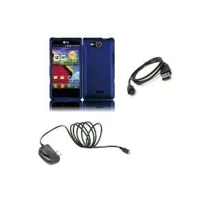 LG Lucid (Verizon) Premium Combo Pack   Purple Hard Shield Case Cover