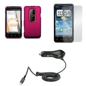 Combo Pack   Magenta Purple Pink Rubberized Shield Hard Case Cover
