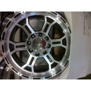TECH WHEELS BLACK & MACHINED TO FIT H 2 HUMMER, CHEV, GMC & DODGE 3/4
