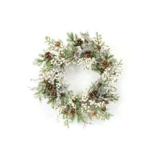 White Berry Artificial Christmas Wreaths 20   Unlit