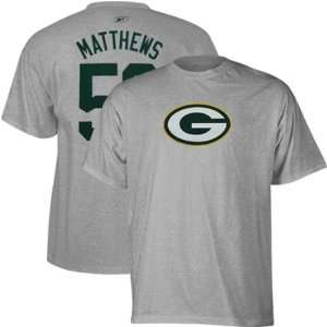 Packers Reebok Clay Matthews Player Jersey T Shirt