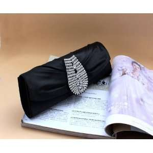 Purse Mini Bag Wedding Clutch Holiday Birthday Gift Sil0011 black