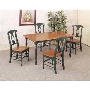 Oak Hunter Green Dinette Set By Coaster Furniture