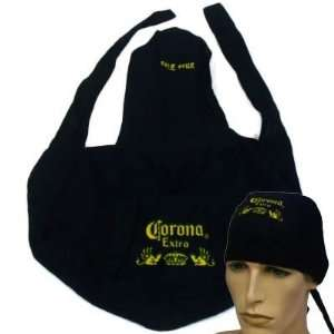 HEAD WRAP CORONA EXTRA BEER CERVEZA MAS FINA BLACK Sports & Outdoors