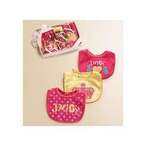 Juicy Couture Newborn Three Piece Bib Set Baby