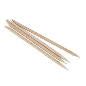 Manicure Nail Art Orange Wood Stick Cuticle Pusher Remover Tool