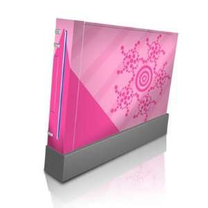 Circles Pink Design Skin Decal Sticker for Nintendo Wii Body Console