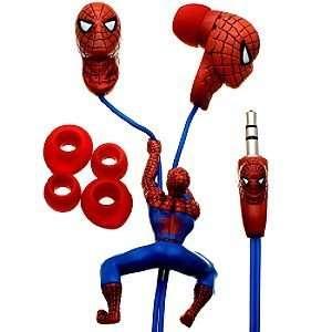Disney Sculpted Marvel Comics Spider Man Earphones
