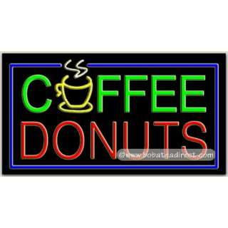 Coffee Donuts Neon Sign (20H x 37L x 3D) Everything