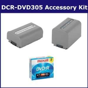Sony DCR DVD305 Camcorder Accessory Kit includes SDNPFP70