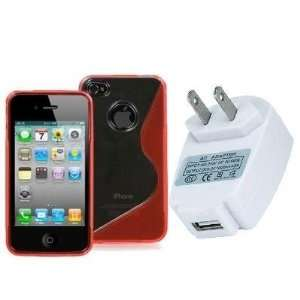 Electromaster(TM) Brand   Clear / Red S Line TPU Rubber