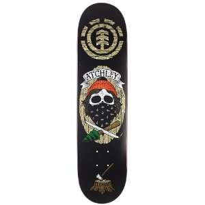 Element Skateboard Deck   Atchley Dead End Gang   7.62 x