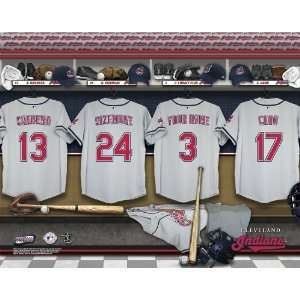 Personalized Cleveland Indians Locker Room Print  Sports