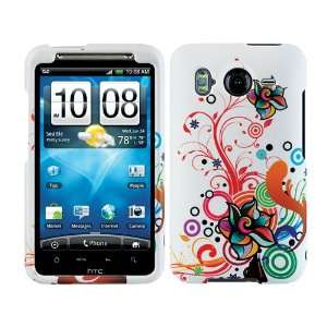 Autumn Flowers Crystal 2D Hard Case Cover for HTC Inspire