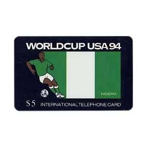 Collectible Phone Card $5. World Cup USA 94 Soccer   Nigeria Flag