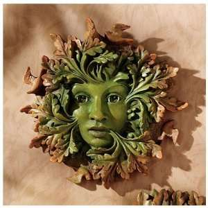 Greenwoman Home Garden Wall Sculpture Statue Figurine Home & Kitchen