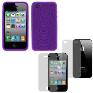 Finger Print Silicone Skin Soft Cover Case + LCD Screen Protector