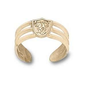 Oakland Raiders Logo Toe Ring   10KT Gold Jewelry: Sports & Outdoors