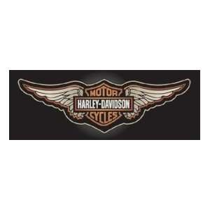 Harley Davidson Vintage Winged B&S Motorcycle Window Graphic Decal