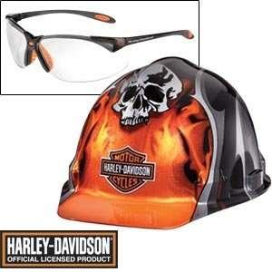 Harley Davidson® Orange Skulls Hard Ha Includes Safey
