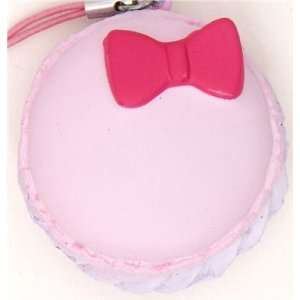 pink Hello Kitty macaroon squishy charm with ribbon Toys