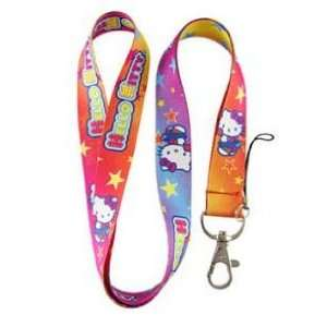 1 Pc Hello Kitty Colorful Lanyard Keychain Holder