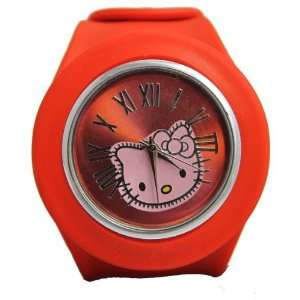 Hello Kitty Slap Watch   Silicone Slap On Watch   Red