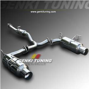 Catback Dual Exhaust Muffler System 00 08 Honda S2000 4 Tip Direct