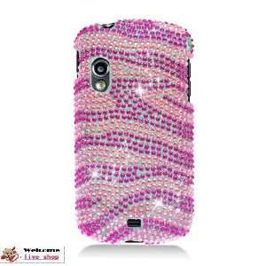 I405 Diamond Case Hot Pink Zebra Cell Phones & Accessories