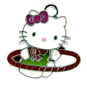 12X DIY Jewelry Making Hello Kitty Hula Hoop Charm Alloy