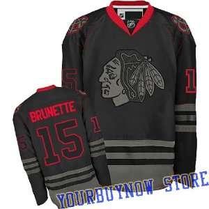 Gear   Andrew Brunette #15 Chicago Blackhawks Black Ice Jersey Hockey