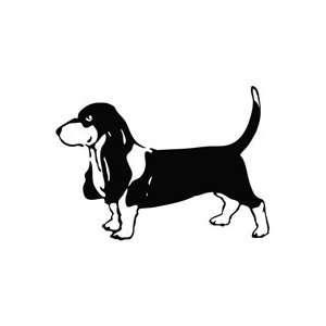 Dog Basset Hound Stand   Animal Decal Vinyl Car Wall Laptop Cellphone