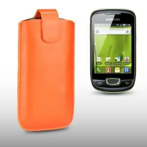 SAMSUNG GALAXY MINI S5570 ORANGE PU LEATHER CASE, BY