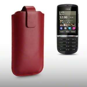 NOKIA ASHA 300 PU LEATHER CASE BY CELLAPOD CASES RED