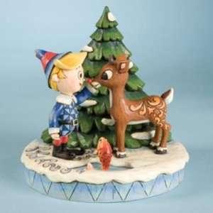 Jim Shore Rudolph & Hermey figurine