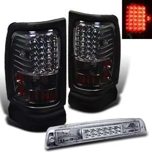 94 01 Dodge Ram Red Smoke LED Tail Lights+LED 3Rd Brake Automotive