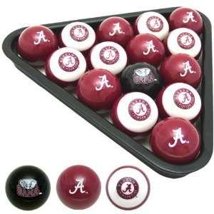Alabama Crimson Tide College Logo Pool Balls Set  Sports