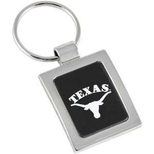 Texas Longhorns Brushed Metal Square Keychain Sports