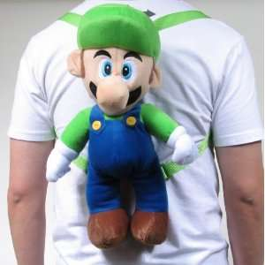 Super Mario Bros (Luigi) Plush School Bag Backpack Pouch