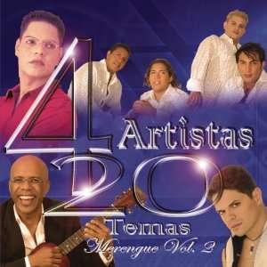 4 Artistas 20 Temas Merengue, Vol. 2 Various Artists Music