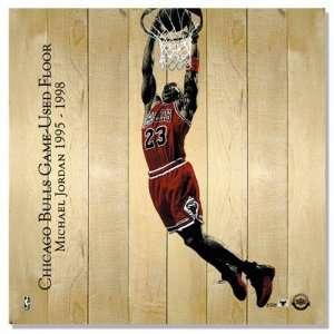 Michael Jordan Chicago Bulls Game Used Floor Display (Dunk