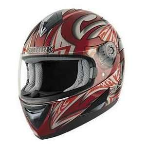 Shark S650 LINK RD_SL_RD MD MOTORCYCLE Full Face Helmet
