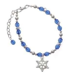 Clear Swarovski Crystal Blue Czech Glass Beaded Charm B Jewelry