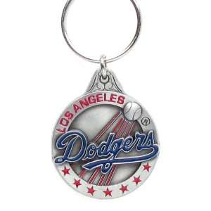 Pewter MLB Team Logo Key Ring   Los Angeles Dodgers