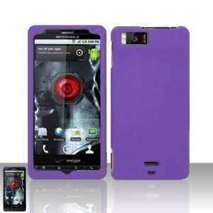 Purple Motorola Droid X MB810 Premium Phone Protector Hard Cover