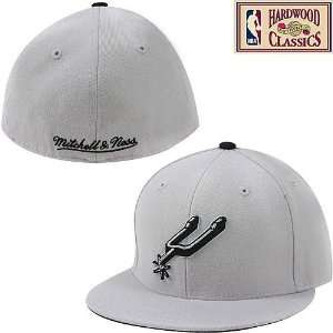 & Ness San Antonio Spurs Hardwood Classics Alternate Logo Fitted Hat